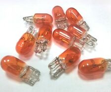 10x W5W T10 Side Marker light Amber Glass Bulb Car Halogen bulbs 12V 5W