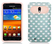 US Cellular Samsung Galaxy S II 2 TPU Candy HYBRID GLOW Green Hearts Dots Case