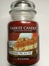 YANKEE CANDLE CARAMEL PECAN PIE 22 oz. JAR HTF FOOD SCENTED