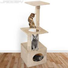 Arbre à chat griffoir grattoir animaux jouet douillet et peluché 109 cm BEIGE