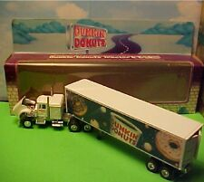 "1995 Limited Edition  Dunkin Donuts Diecast Truck Tractor Trailer 12"" Long"