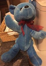 """Kuddle Me Toys Blue Merry Christmas Plush Toy Bear with Tag (14"""" High)"""