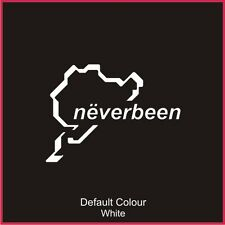 Nurburgring Neverbeen Race Circuit Decal, Track, Vinyl, Sticker, Graphics N2022