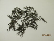 50 x size 8 nickle black barrel swivels