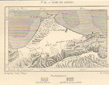 ALGERIE PLAINE DES ANDALOUSES BOU-SFER EL-ANCOR MAP CARTE GRAVURE 1886
