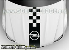 Bs1008 Opel Sombrero Racing Stripes gráficos Calcomanías Stickers Corsa Astra Adam