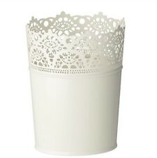 IKEA SKURAR Indoor Plant POT HOLDER / Picnic POSATE BIANCO, 15cmtall, BNWT