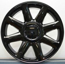 "(4) 20"" GMC Denali Sierra Chevy Silverado 1500 Tahoe Wheels Rims Gloss Black Set"