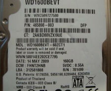 "Western Digital  WD1600BEVT-60ZCT1 160gb 2.5"" Sata Laptop drive"