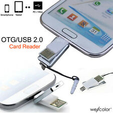 Mini 2 in 1 Micro USB 2.0 OTG Adapter+Micro SD TF Card Reader For smart Phone PC