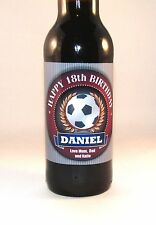 PERSONALISED FOOTBALL PLAYER FAN 18th 21st 30th 40th BIRTHDAY BOTTLE LABEL GIFT