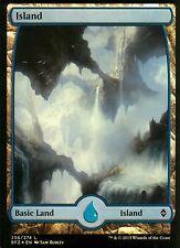 Island foil-versión 1 (full art) | nm/m | Battle for Zendikar | Magic mtg #256