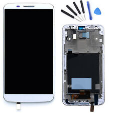 White LCD Display Touch Screen Digitizer + Frame + Tools For LG Optimus G2 D802
