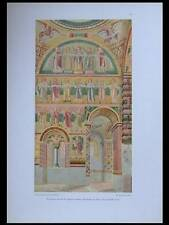 PEINTURES ABBAYE PRUFENING -1925- LITHOGRAPHIE, ALLEMAGNE, RATISBONNE