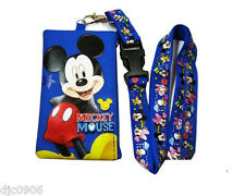 DISNEY MICKEY MOUSE LANYARD WITH DETACHABLE COIN POUCH/WALLET/PURSE-NEW!