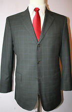 Mr Ned NYC Custom Gray Blue Three Button Super 150s Wool Suit 40 R 33 30 Pants 0