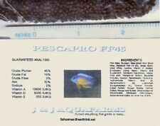 "FF45b 11# African Cichlid FLOAT/SINK fish food 45% 1/16"" flowerhorn tropical"