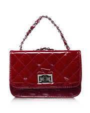 Borsa Donna a Tracolla Trapuntata Lucida Rossa Red Patent Crossbody Bag Classic