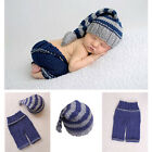 2 pc Newborn Baby Girls Boys Crochet Knit Costume Photo Photography Prop Outfits
