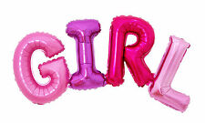 GIRL Lettering Giant Mylar Foil Balloons Baby Shower Birthday Party Decorations