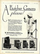 W. Butcher & Sons London Camera House A Butcher Kamera please...Klappkameras1920