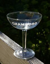 Chambord Liqueur Etched Stem Stemare Drinking Glass Black Raspberry