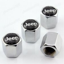 Chrome Silver jeep Car Wheel Tire Valve Caps Stem Air Covers Wrangler Compass