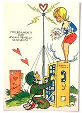 Cartolina Militare Umoristica - Collegamenti Con Anima Gemella Cercansi