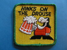 Vintage 70's Biker Beer Vest Hat Hippie Jacket Patch Hinks on the Drouse Booze