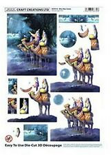 A4 BEAUTIFUL DIE CUT DECOUPAGE - ** WISE MEN SCENE ** GREAT FOR CRAFTS