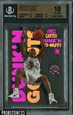 1998-99 E-X Century Dunk 'N Go Nuts Vince Carter RC Rookie BGS 10 PRISTINE POP 5