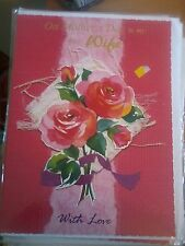 LARGE GREETINGS CARD ON MOTHER'S DAY TO MY DEAR WIFE