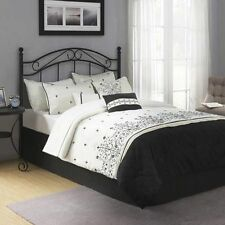 Traditional Metal Black Full Queen Size Headboard Bed Bedroom Frame Furniture