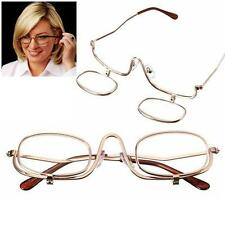 Magnifying Makeup Glasses Eye Spectacles Flip Down Lens Folding Cosmetic ReadeCA