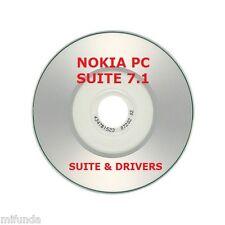 NOKIA PC SUITE 7 VERSIÓN 7.1 MINI CD CON DRIVERS Y SUITE COMPLETA