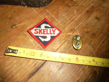 Vintage men's estate sale items Skelley patch and electric companty novelty pin