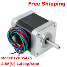 Nema17 CNC Router Stepper Motor 2 Phase 4-Wire 1.8° 2.5A Single Shaft 3D Printer