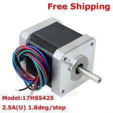 Nema17 CNC Router Stepper Motor 2 Phase 4-Wire 1.8° 2.5A Single Shaft 3D Printer