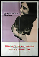THE ONLY GAME IN TOWN Elizabeth Taylor One Sheet Original Movie poster