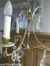 Kronleuchter - Lüster - Deckenlampe - Kristallglas - 3-flammig - Messing