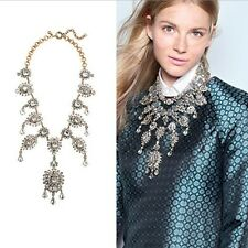 LUXURY ANTHROPOLOGIE SPARKLING CRYSTAL WATERFALL STATEMENT NECKLACE