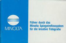 Führer durch das Minolta Objektiv Programm 80 er Jahre  Rokkor   F93