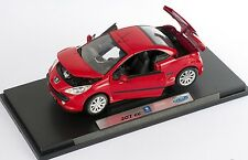 BLITZ VERSAND Peugeot 207 CC rot / red Welly Modell Auto 1:18 NEU & OVP