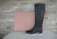 orig MIU MIU Damen Stiefel Gr 37,5 boots bottes Shoes black + white NEU UVP 895€