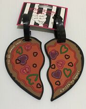 BETSEY JOHNSON LUGGAGE TAGS  A PIZZA MY HEART