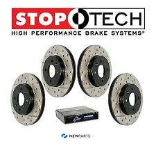 Fiat 500 Abarth Front & Rear StopTech Drilled Slotted Disc Brake Rotors Set Kit