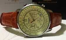 Rotary Mens Tan Leather Chronograph Watch