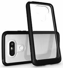 Diztronic Voyeur Case for LG G5 - Matte Black TPU Bumper + Crystal Clear PC Back