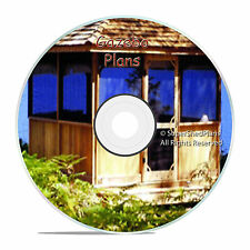 CAD Design Gazebo Plans, 8ft Square Gazebo Blueprints, Easy to Follow Plans CD