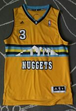 Adidas #3 Ty Lawson NBA Denver Nuggets SEWN Basketball Jersey Sz. M +2LENGHT /AA